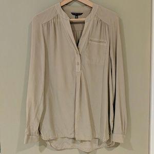 Victoria's secret all silk blouse Taupe size Small